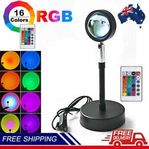 16Colors Rainbow Sunset Projection Lamp LED Modern Romantic Remote Control Light