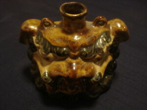 Vintage 19s  Persian lion face porcelain