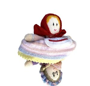 Little Red Riding Hood Grandma Topsy Turvy Flip Doll Handmade Knitted Crochet