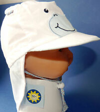 UV50 Sterntaler KU 45 46 47 48 BINDEN Nacken Schutz Sonne Kappe Junge Baby weiß