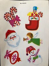 1 VINTAGE DENNISON  CHRISTMAS  STICKER SHEET RARE