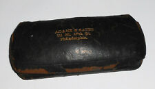 Antique Late 1800s Small Eye Glasses Case Adams & Bates History Philadelphia Pa