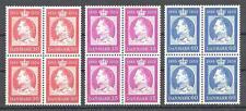 Denmark 1959 Sc# 366-68 set King Frederik IX blocks 4 MNH