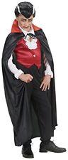 Widmann 4504b Manteau Noir C/col Rouge Satin 110cm