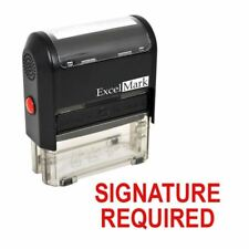SIGNATURE REQUIRED - ExcelMark Self Inking Rubber Stamp A1539 | Red Ink