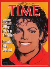 "ANDY WARHOL POSTER ART PRINT ""MICHAEL JACKSON"" COVER OF TIME MAGAZINE"