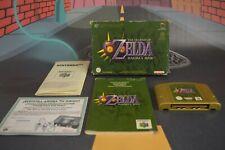 Zelda Majora's Mask ( Nintendo 64 N64 2000) con caja y manual