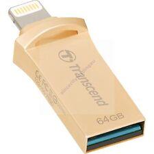 TRANSCEND JETDRIVE GO 500 GOLD LIGHTNING USB OTG 130 MB/s 64GB USB 3.0 AU