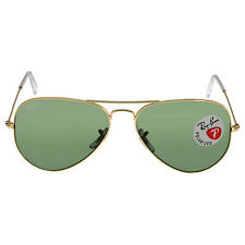 Ray Ban Aviator Green Polarized Lens 58mm Mens Sunglasses RB3025-001/58-58