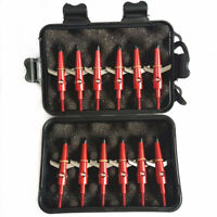 12Pcs Archery Red Broadheads 100 Grain Compound Bow Crossbow Hunting Arrows Tips