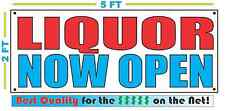 Liquor Now Open Banner Sign New Larger Size Best Quality for the $