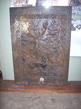 Cast iron Deer figure Fire front plate (F E)