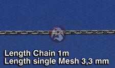 Royal Model 1/35 Metal Chain (A) Single Mesh 3.3mm (Chain Length 1 meter) 516