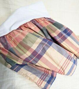 Eddie Bauer HOME Queen Bed skirt Plaid COTTON
