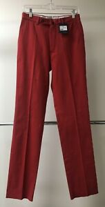 B10 NWT Incotex 44 Red 100% Cotton Slim Fit (See Measurements) Pants