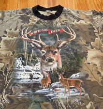 Vintage Camo Single Stitch Whitetail Deer Johnny's Trademark Used Men's Sz L