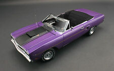 GMP 1970 PLYMOUTH TOMS GARAGE VIOLET BLACK ROAD RUNNER 1:18 CONVERTIBLE CAR 440