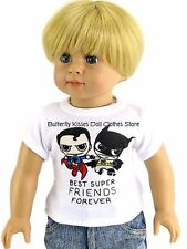 Best Super Friends Shirt Fits 18 in American Girl/Boy Doll Clothes