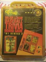 CLASSIC MAJOR LEAGUE BASEBALL 1991 TRIVIA GAME SERIES 2 IN PACKAGE