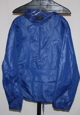 Vintage The Hare by Montgomery Ward Blue Hooded Light Pull Over Rain Jacket XL