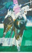 """PAUL AMBILLE """" POLO """" horse HAND SIGNED LITHOGRAPH French expressionist"""