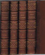 CHANSONS de BERANGER 1821 à 1828 4 Tomes Ex-libris de LAFLECHE Ed. BAUDOIN RARE