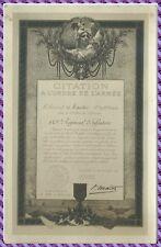 CPA  - Citation à L'Ordre de L'Armée - 149 e Régiment d'Infanterie