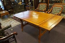 Vintage French Country Provincial Top Dining Table with Two Leaves Ornate Design