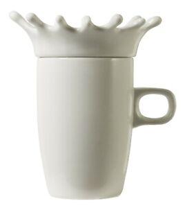 Porcelain mug with splash cover