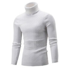Fashion Men Turtleneck Sweater Pullover Tops Long Sleeve Slim Knitted Sweater CR