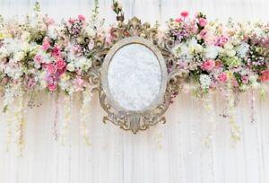 Photo Background Props 6x4Ft Wreath Wedding Photography Backdrops Vinyl