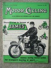 MOTOR CYCLING 20.9.56 NORTON, EXCELSIOR,   jm