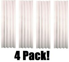"(4) ea LTL Home VS3280HL 32-36"" x 80"" White Folding Accordion Vinyl Doors"
