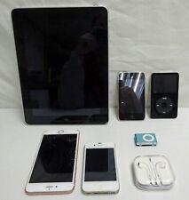 Lot of 7 Apple Ipods, Ipads & Phones Parts/Repair