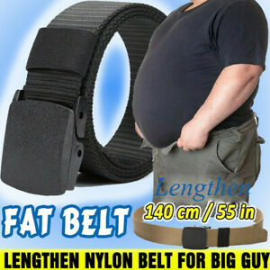 Mens Casual Buckle Long Canvas Nylon Waist Belt Metal-free Security Check Belts