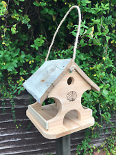 Hanging Solid Wooden Bird Table