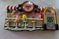 Vintage Coca Cola Diner Counter Scene Soda Ice Cream Parlor 3-D Wall Clock
