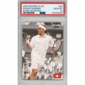 Graded 2003 Netpro ROGER FEDERER #S2 Event Starter Rookie RC Tennis Card PSA 10