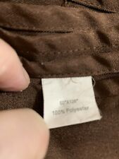 """Brown 60"""" x 126"""" Polyester Torn Tablecloth"""