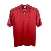 Vintage Nike Air Jordan Mens Large Polo Shirt Jumpman Casual Golf Polo Red Mesh