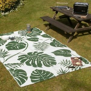 Valiant Outdoor Patio and Decking Rug - Leaf Green - 9ft x 6ft (2.7m x 1.8m)