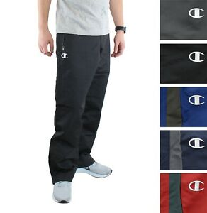 Champion Men's All-Star Pants Zipped Leg Opening Contrasting Stripe Relaxed Fit