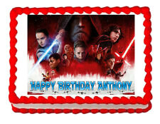 Star Wars The Last Jedi party edible cake image cake topper frosting sheet