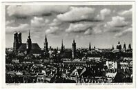 Ansichtskarte München - Blick vom Deutschen Museum auf die Stadt - schwarz/weiß