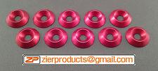 M5 *RED Anodized* CNC Billet Aluminum Finishing Washers Qty 10 finish washer