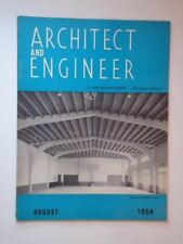 Aug 1954 Architect and Engineer San Francisco CA Gymnasiums - Auditoriums