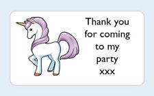 12 thank you for coming To My Party x Unicorn stickers Favour party birthday