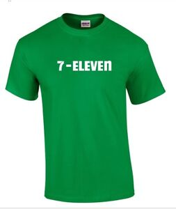 7-ELEVEN 7-11 Funny POP PARTY Vintage COOL Irish Green Cotton T-shirt S - 5XL