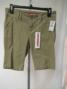 Union Bay  Women's/ Junior Flat Front Blanche Bermuda Shorts Size 1  Khaki  NWT
