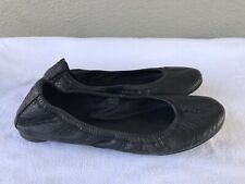 $285 EUC Tory Burch Women's US 7 M Black Leather Eddie Ballet Ballerina Flats B